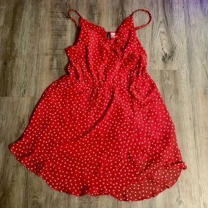 H&M polka dot wrap dress